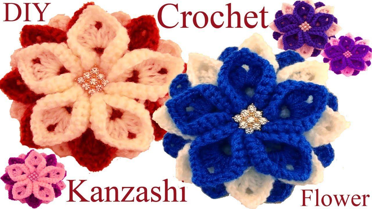 Como tejer una flor a Ganchillo Crochet tutorial paso a paso ...