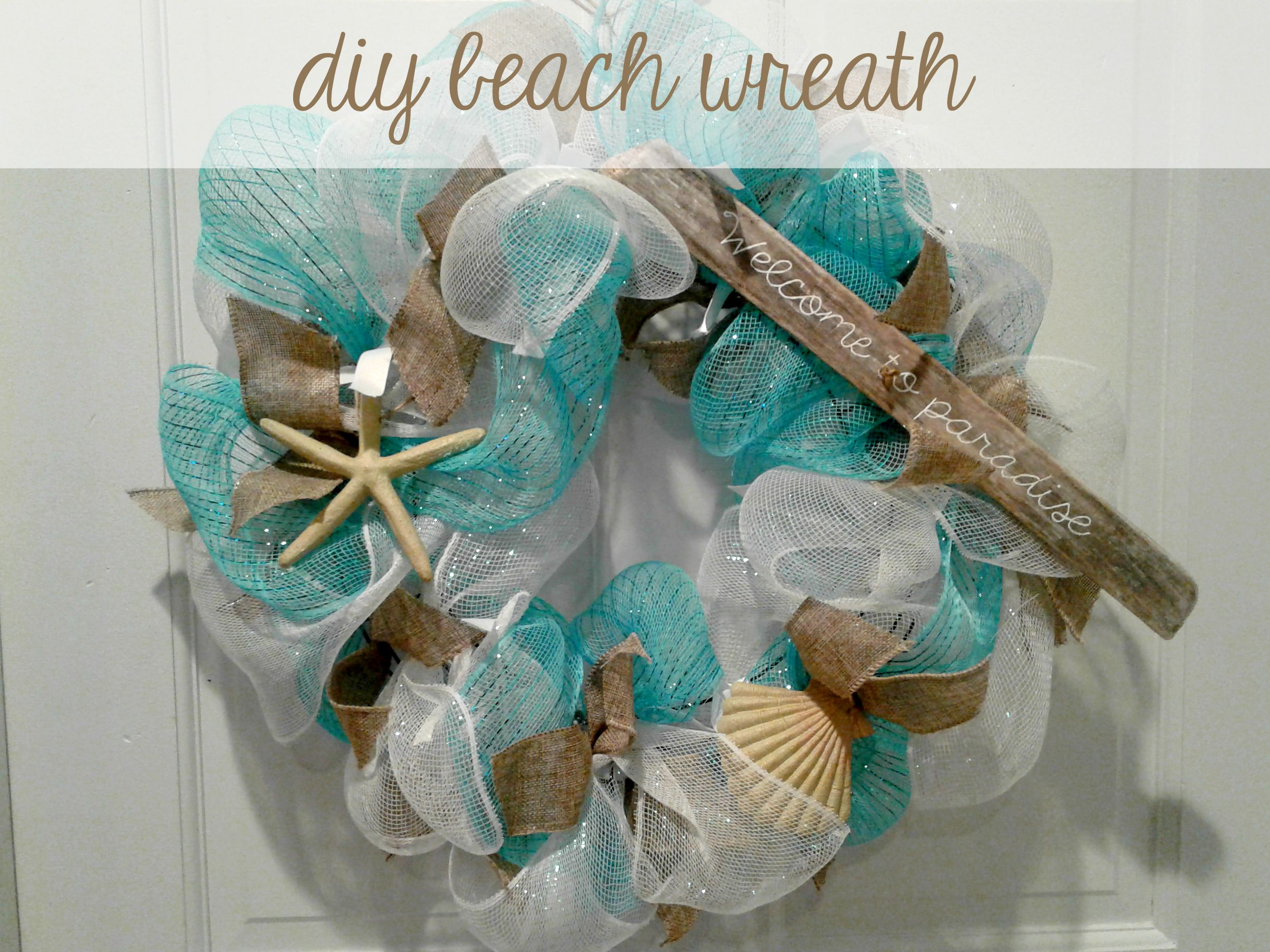 DIY beach coastal wreath for your front door How to make a deco