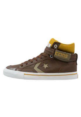 Coole Converse CONS PRO BLAZE PLUS Sneakers hoog chocolate/white/mustard Sneakers van het merk Converse voor Heren . Uitgevoerd in Bruin gemaakt van leer en textiel.
