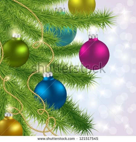 Christmas and New Year background. Vector illustration