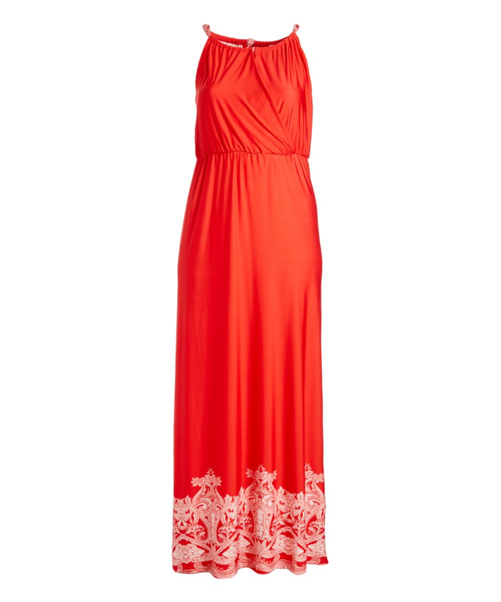 Red u white abstractaccent maxi dress plus products