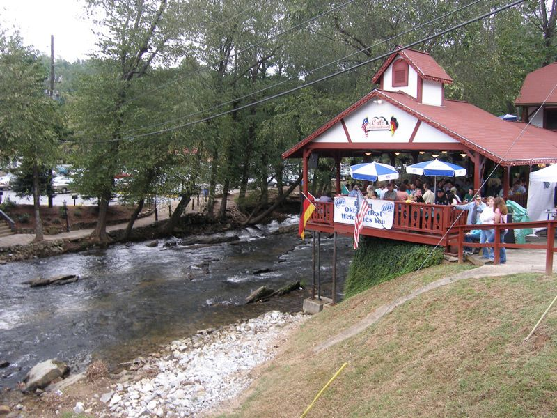Helen Georgia Images Ga Restaurant On The Chattahoochee River Photo