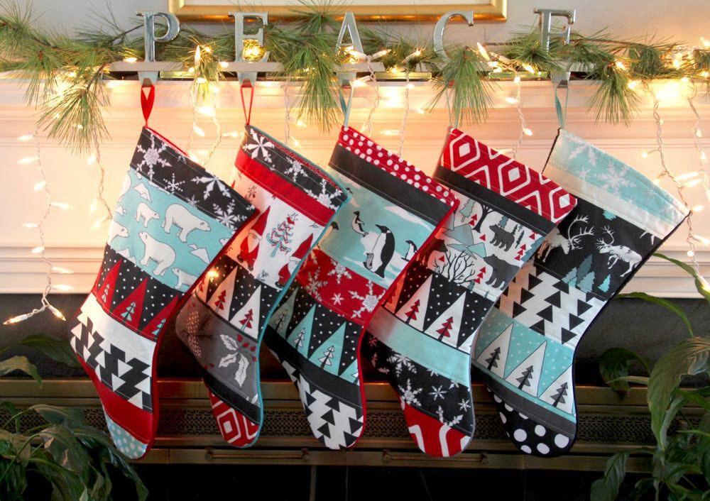 christmas stockings set quilted personalized family stockings set of 6 polar bear stocking