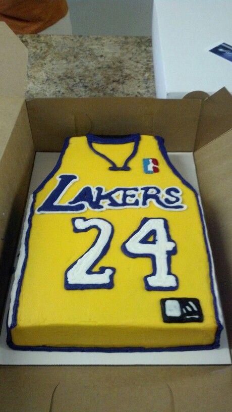 Lakers Cake   Cakes for boys, Cake, Kobe bryant