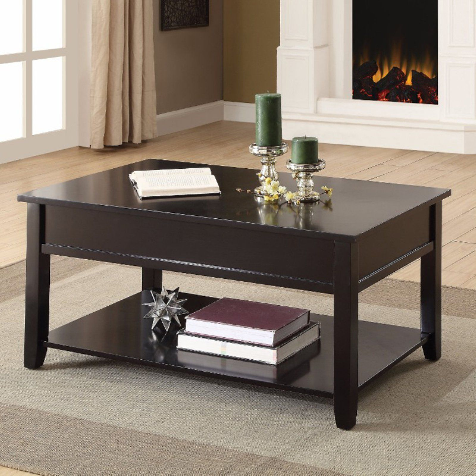 Benzara Rectangular Lift Top Coffee Table In 2019 Products