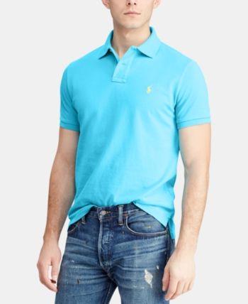 639aee4af52e52 Polo Ralph Lauren Men's Big & Tall Classic Fit Cotton Mesh Polo - Blue 2LT