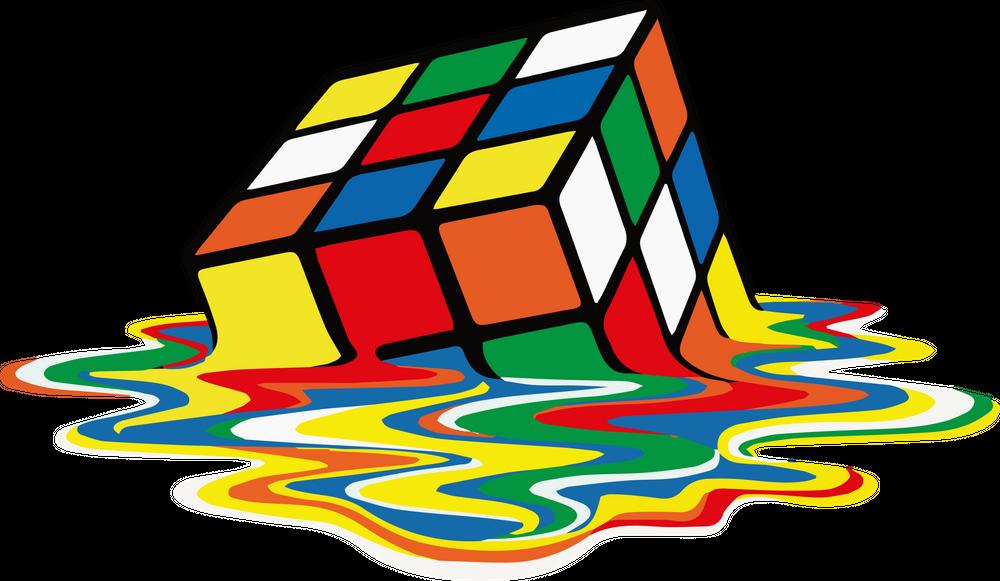 Rubik Cube Melted Original Artwork for Prints Posters ...