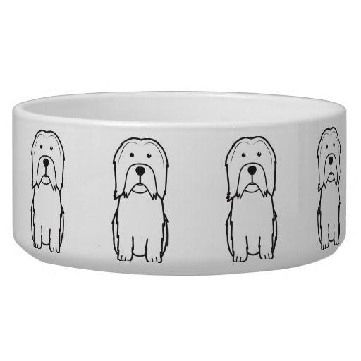 Lowchen Dog Cartoon Dog Food Bowls