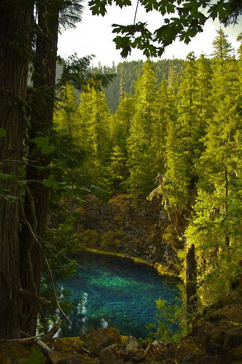 Blue Pool, Oregon фото Pinterest Blue pool oregon, Blue pool