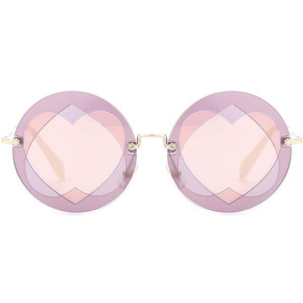 4745066e9e2a Miu Miu Round Sunglasses ( 330) ❤ liked on Polyvore featuring accessories