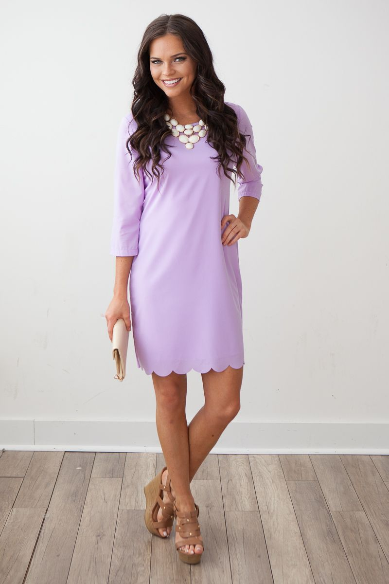 5fdbc06e3852c2 Magnolia Boutique Indianapolis - Cottontail Shift Dress- Lavender, $42.00  (http://