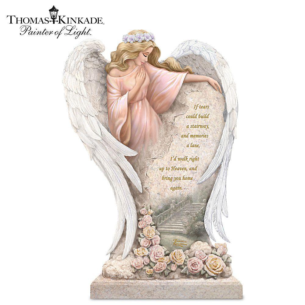 Thomas Kinkade Heaven's Embrace Angel With Swarovski