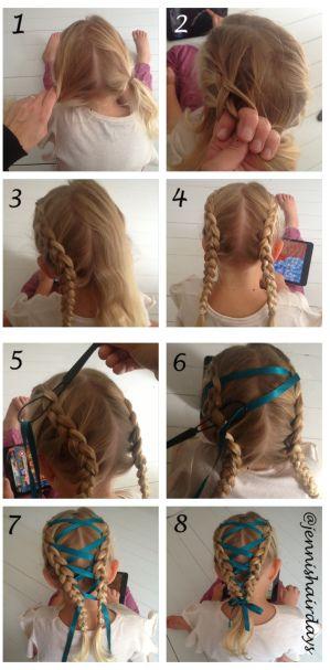 Jenni S Hairdays Hair Styles Ribbon Braids Circus Hair