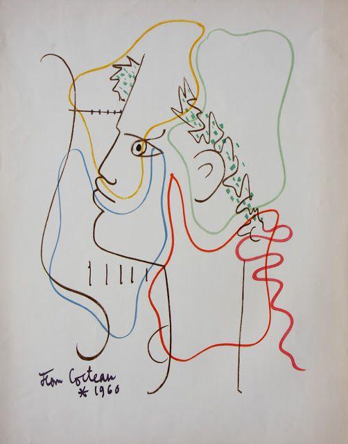 tri ciclo orpheaus theme x cm lithograph jean cocteau
