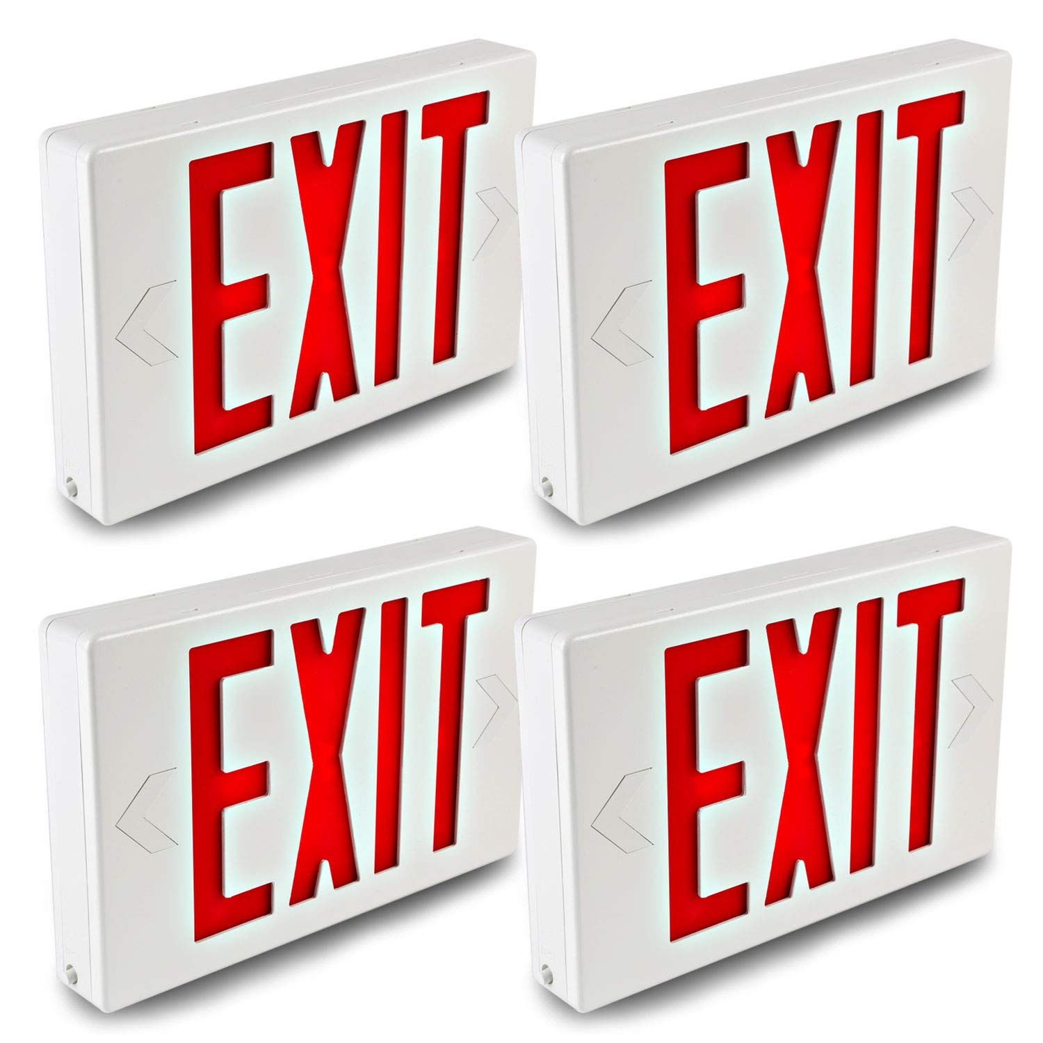 Hykolity Led Exit Sign Emergency Light Lighting Universal Mounting Double Face Red Letter With Battery Backup 4 Pack Check In 2020 Exit Sign Lettering Emergency