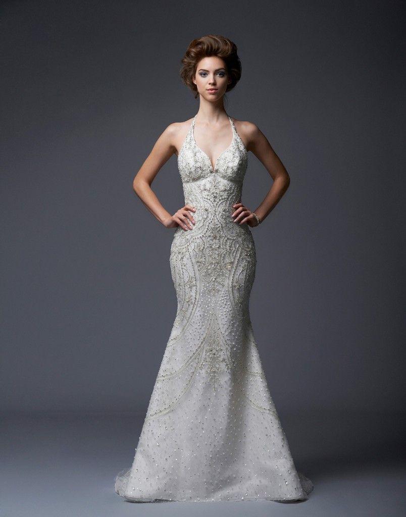 Halter style wedding dresses  Collection u Enaura Bridal  Wedding Dresses  Pinterest  Wedding