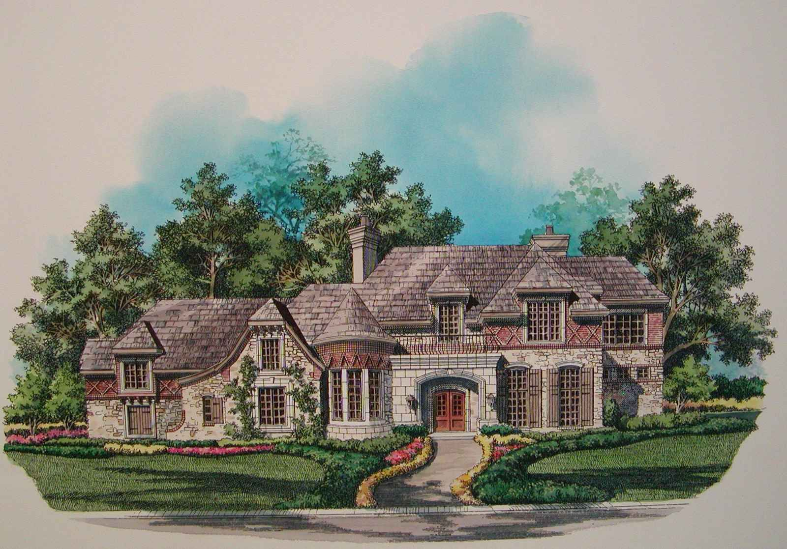 French normandy design 6000 sq ft dallas suburbs for 6000 sq ft home
