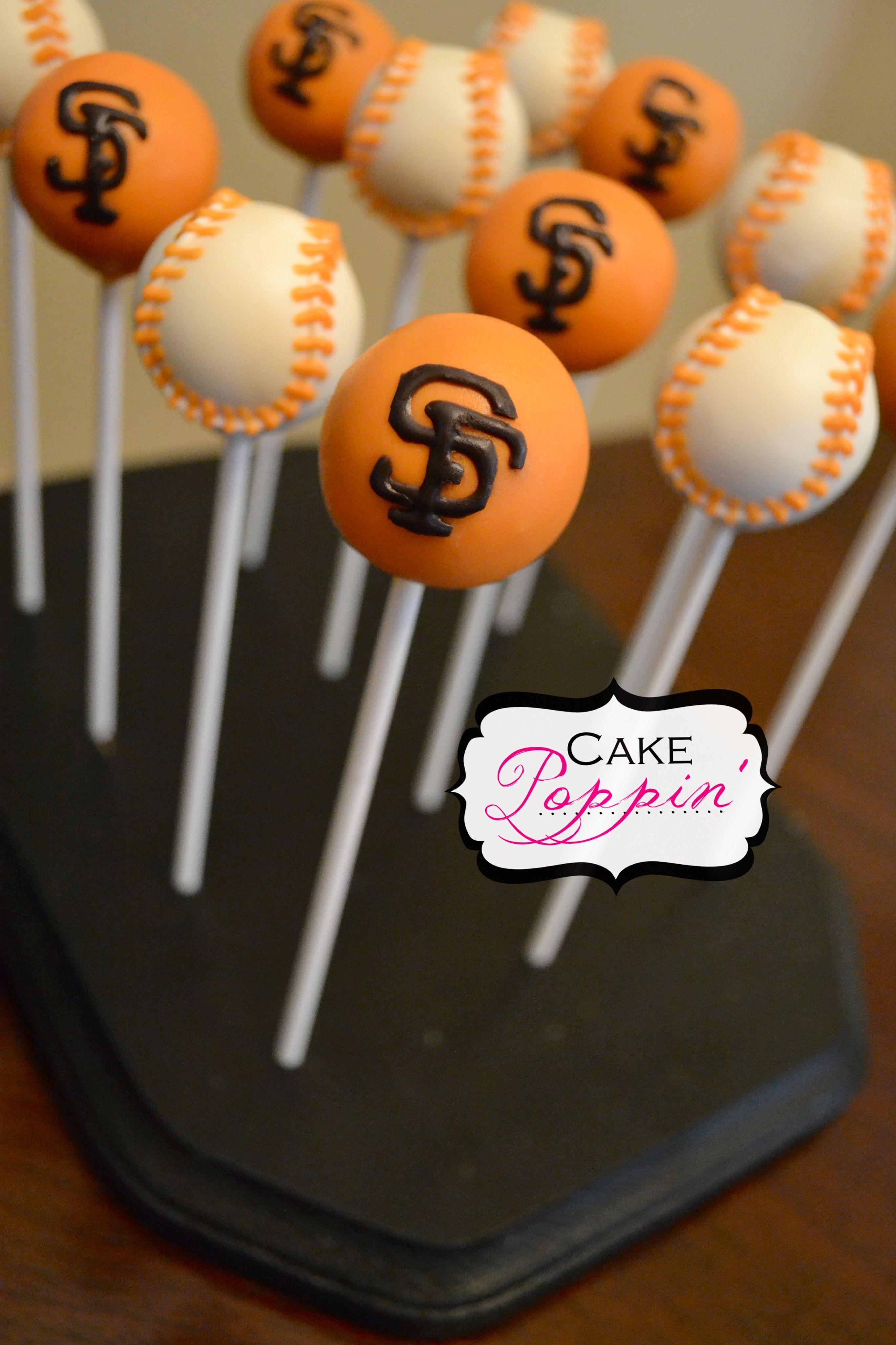 Giants baseball cake pops   Cake Pops   Pinterest ...
