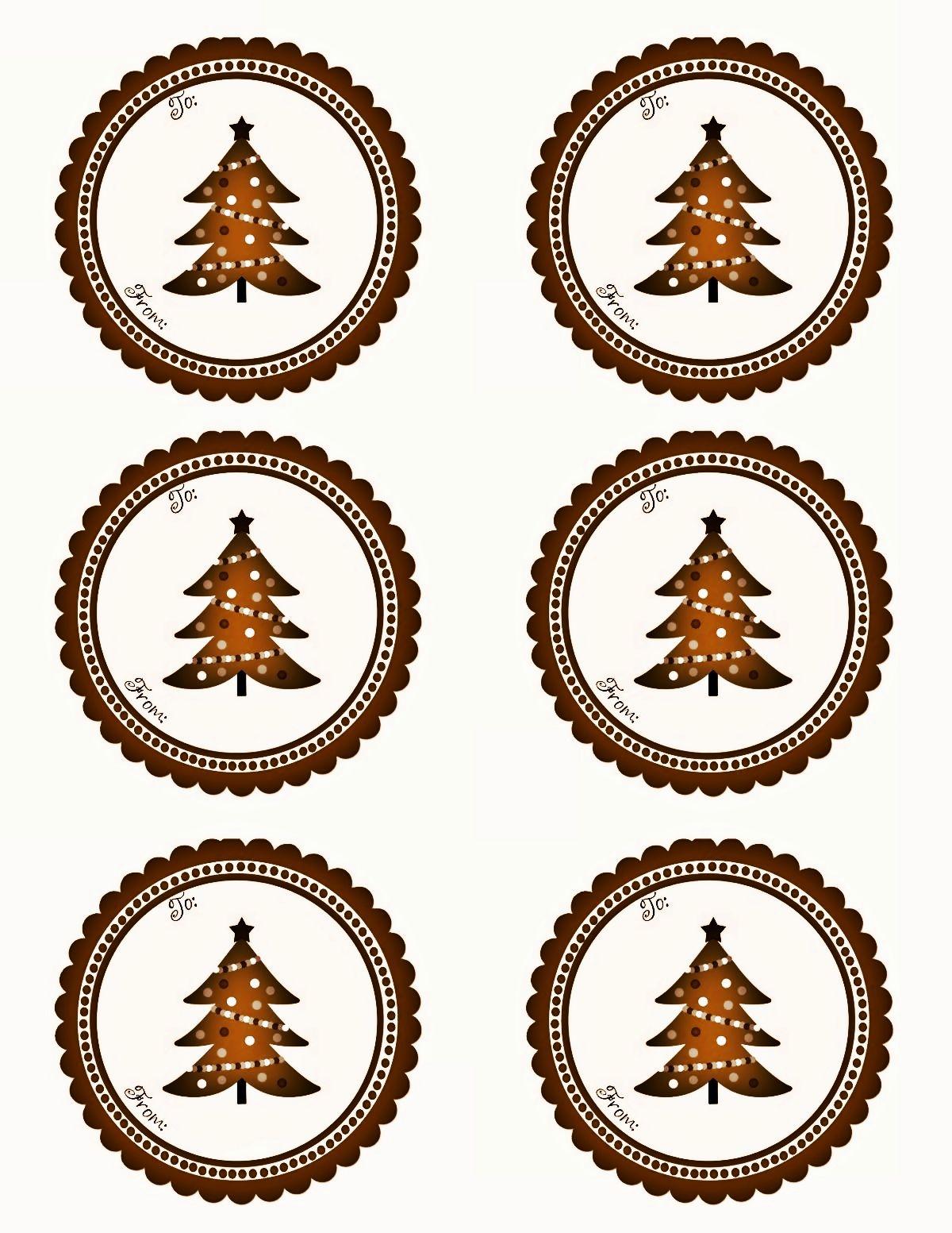 Free Christmas labels. Tags. Rustic Christmas. Free