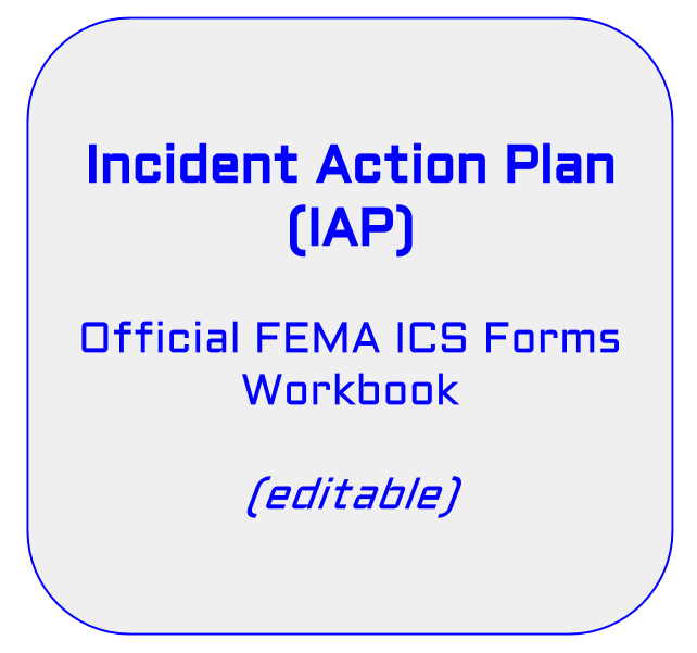Incident Action Plan Iap Ics Forms Workbook  Official Fema