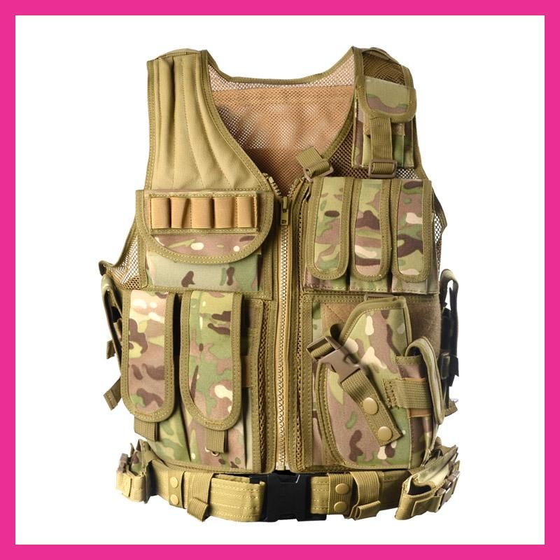 Summer Outdoor Men Camouflage Mesh Photography Vest Multi-pocket Portable Breathable Quick Dry Light Fishing Vest Casacos For Improving Blood Circulation Men's Clothing Jackets & Coats