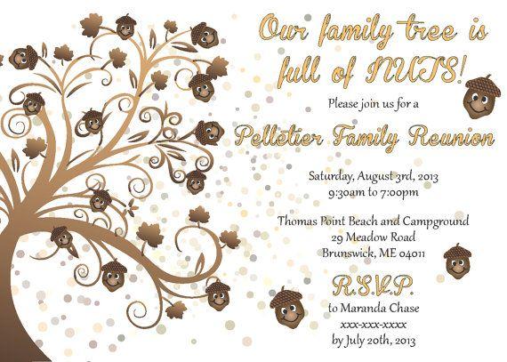 Family Reunion Invitation Family reunion invitations, Family - invitations for family reunion