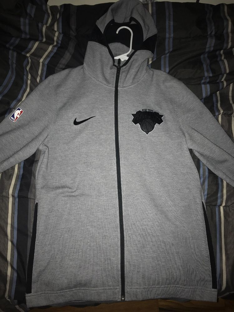Nike NBA New York Knicks Therma Flex Showtime Hoodie Grey  fashion   clothing  shoes  accessories  mensclothing  activewear (ebay link) cafb79c5f2f6