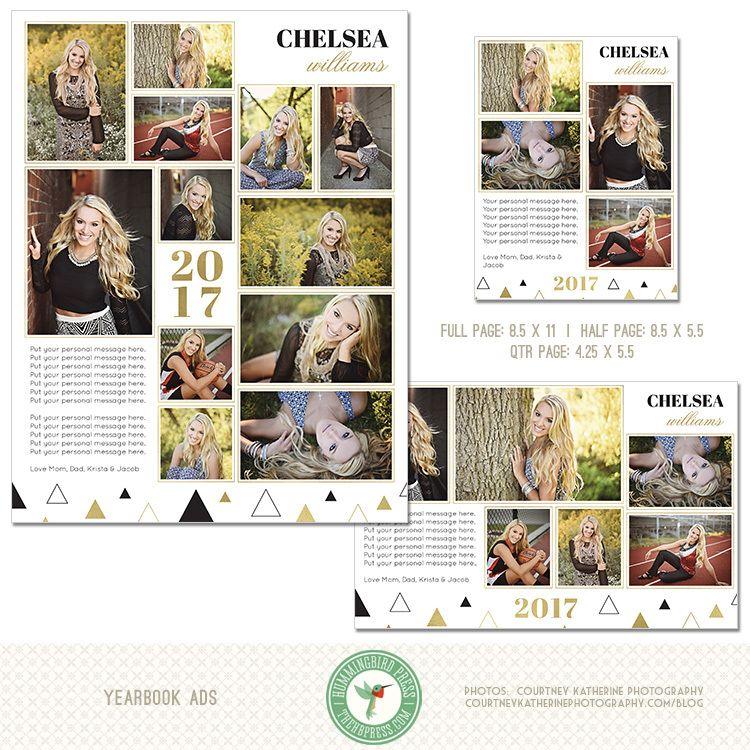 Hummingbird Press - (3) Year Book Ad Templates (Y1), $14.00 (http://www.thehbpress.com/3-year-book-ad-templates-y1/) #yearbookad, #yearbooktemplate, #photographytemplate