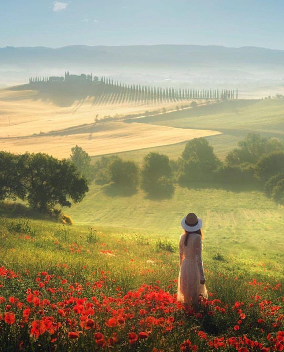 Tuscany, Italy | Landschaftsmalerei, Landschaftsbilder ...
