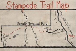 stampede trail alaska map This Is The Map Of The Stampede Trail And The Denali National Park