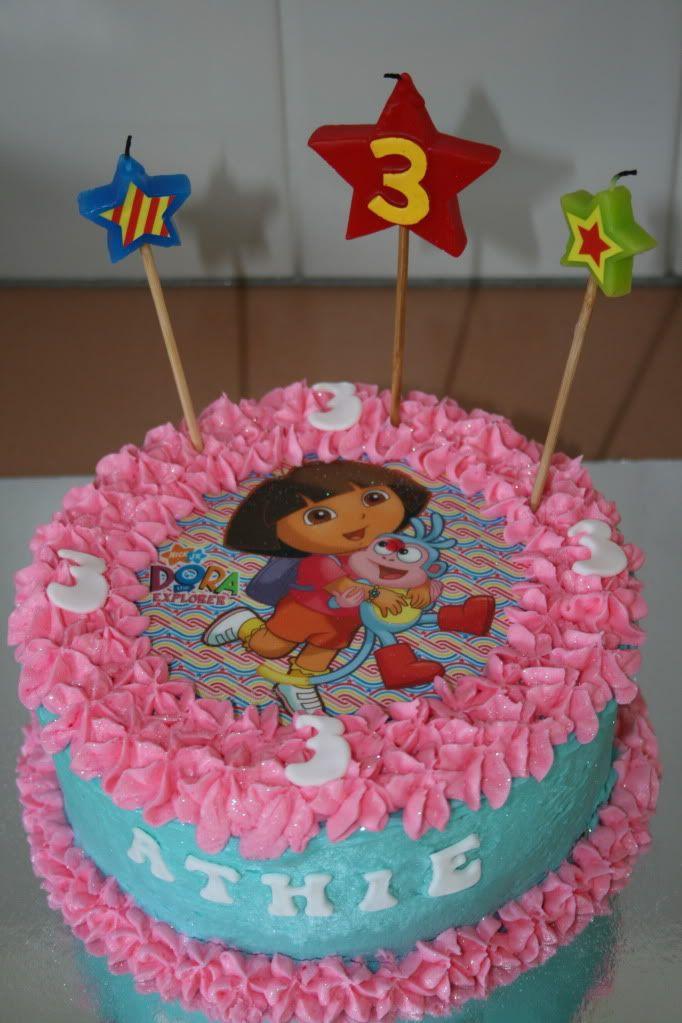 Awesome Dora Birthday Cake Dora Birthday Cake Birthday Cake Kids Birthday Cards Printable Benkemecafe Filternl