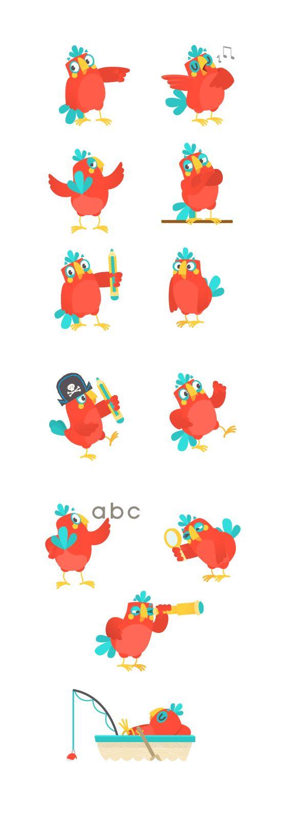 bird character design Eyes is part of Best Bird Images Character Design Drawings Character - Parrot character design sheet ~ Hanimator 2015