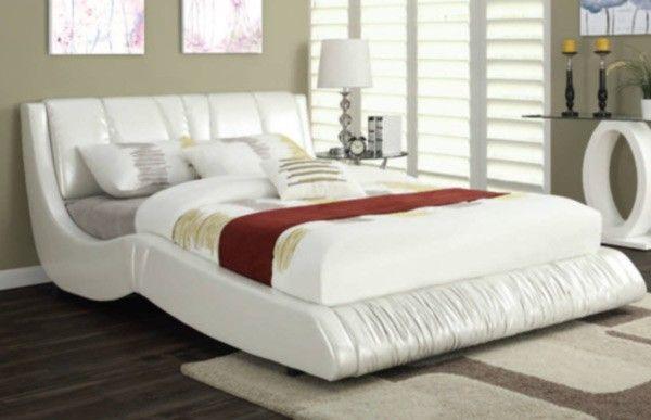 Acme Furniture - Nathan Eastern King Bed in White - 24647EK   Acme ...