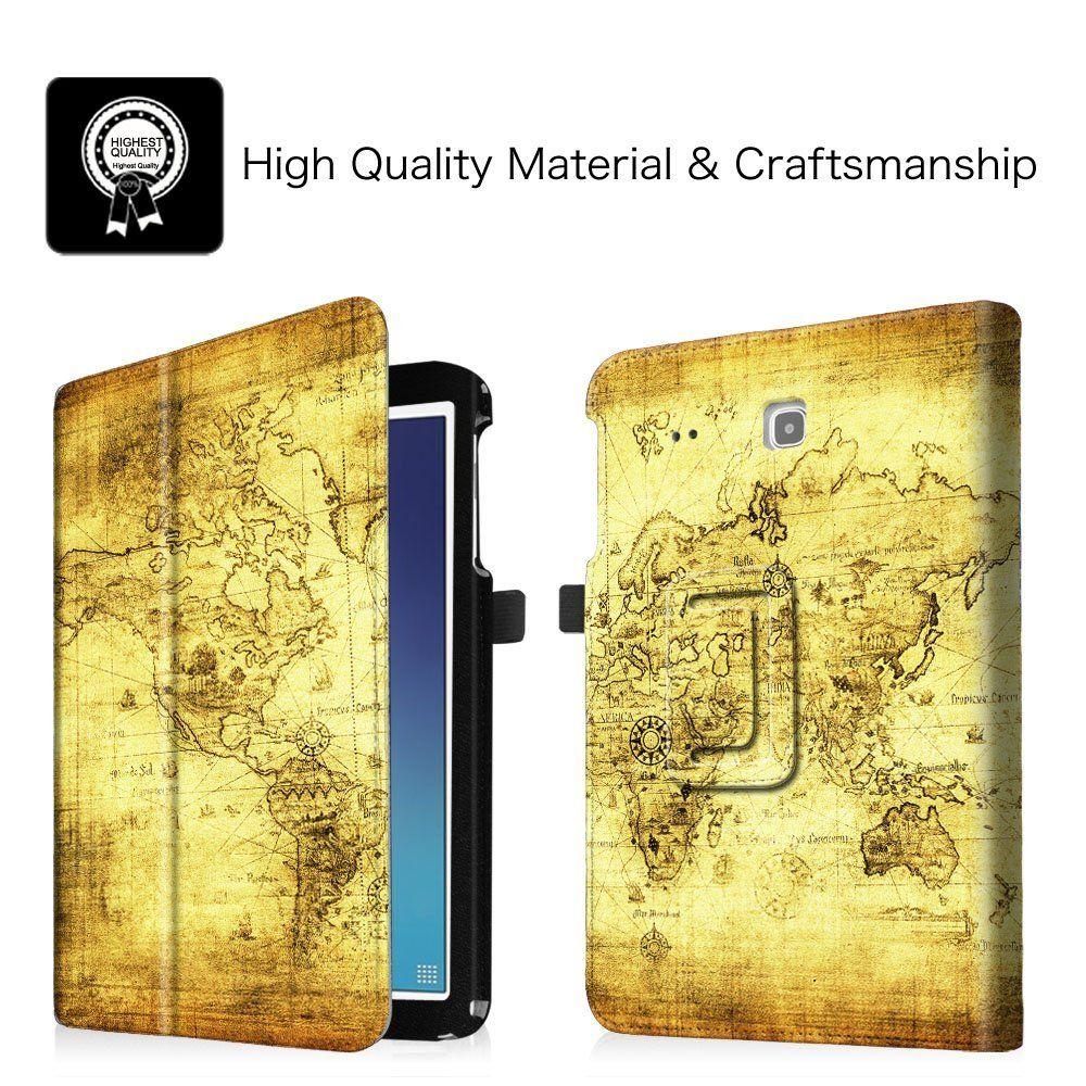 promo code fde8d fe0dc Amazon.com: Fintie Samsung Galaxy Tab E 9.6 Folio Case - Slim Fit ...