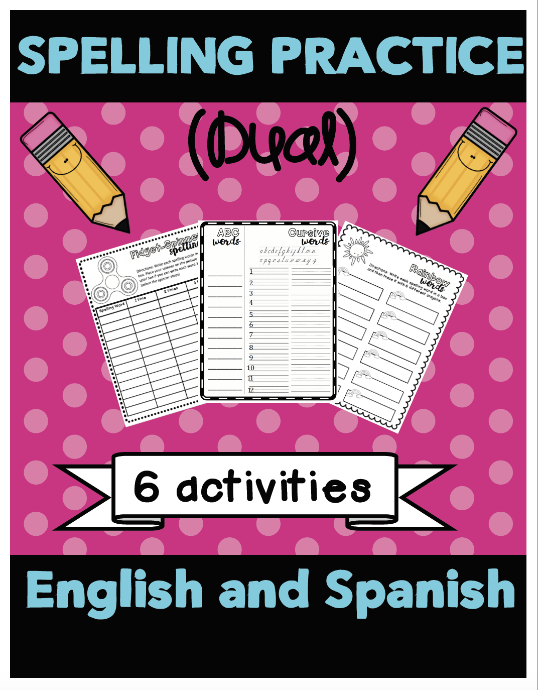 Spelling Word Practice Dual English Spanish With Images