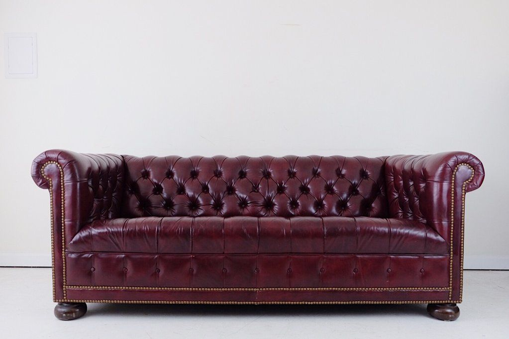 Beautiful Oxblood Leather Chair