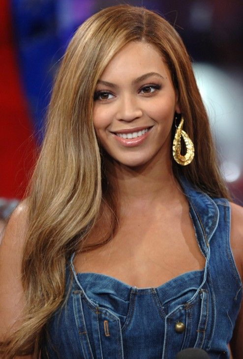 Beyonce Knowles Long Straight Side Part