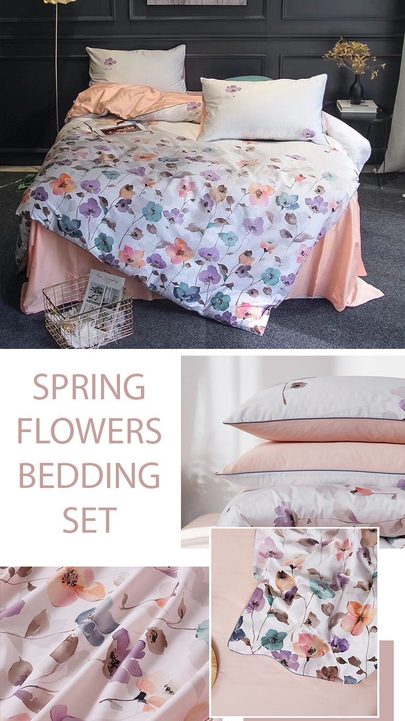 Spring Flowers Bedding Set Bedding Sets Bed Luxury Bedding Sets