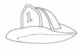 Fire Hat Coloring Page Hats Coloring Pages Baseball Hats