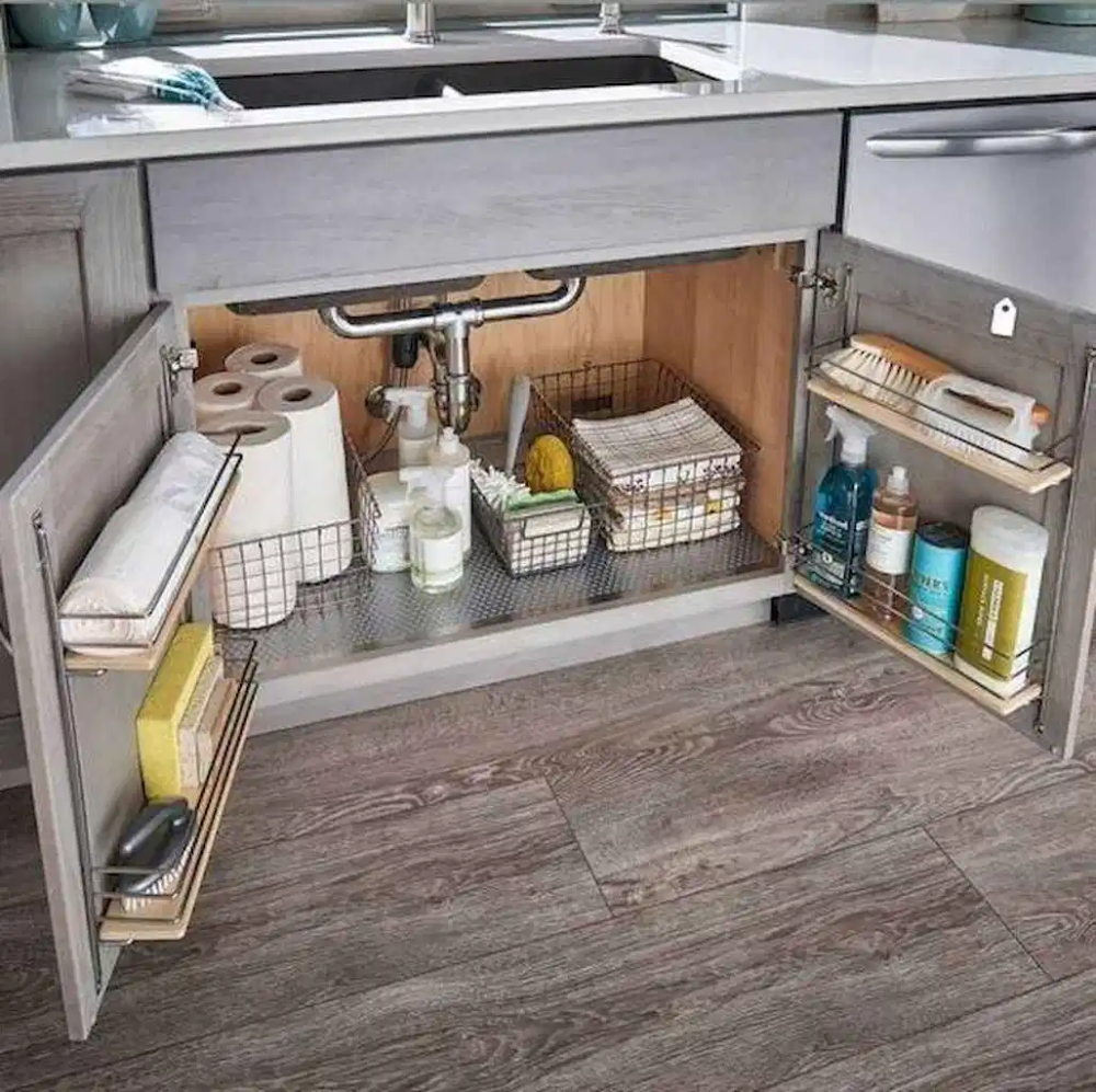 07 Smart Small Kitchen Organization And Tips Ideas Homixover Com Small Kitchen Cabinets Diy Kitchen Renovation Diy Kitchen Storage