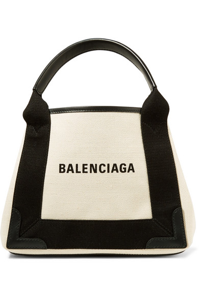 ad338263795 BALENCIAGA Leather-trimmed logo-print canvas tote. #balenciaga #bags  #leather #hand bags #canvas #tote