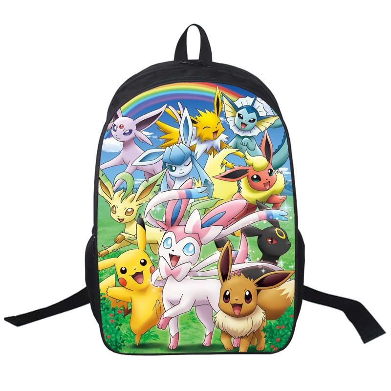 Pokemon Go Backpack Poke Ball School Bag Shoulders Book Bag Gift