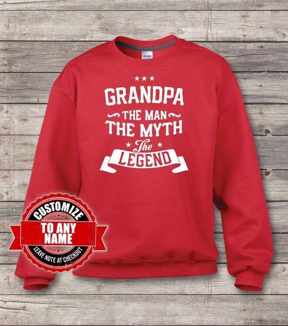 Grandpa The Man The Myth The Legend, Grandpa Gift, Grandpa Birthday, Grandpa sweatshirts, Grandpa Gift Idea, Birthday Gift for Grandpa,