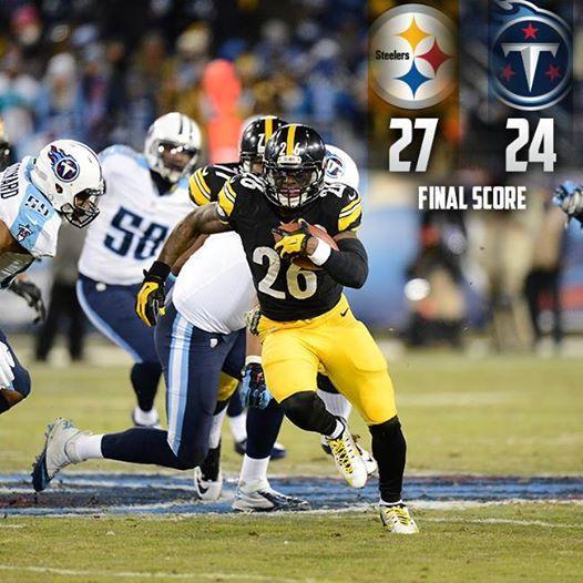 steelers win 27 - 24 way to go guys! #HereWeGo #Steelers