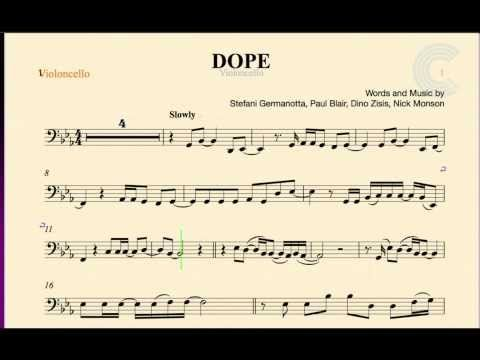 Cello - Dope - Lady Gaga - Sheet Music, Chords, and Vocals - YouTube
