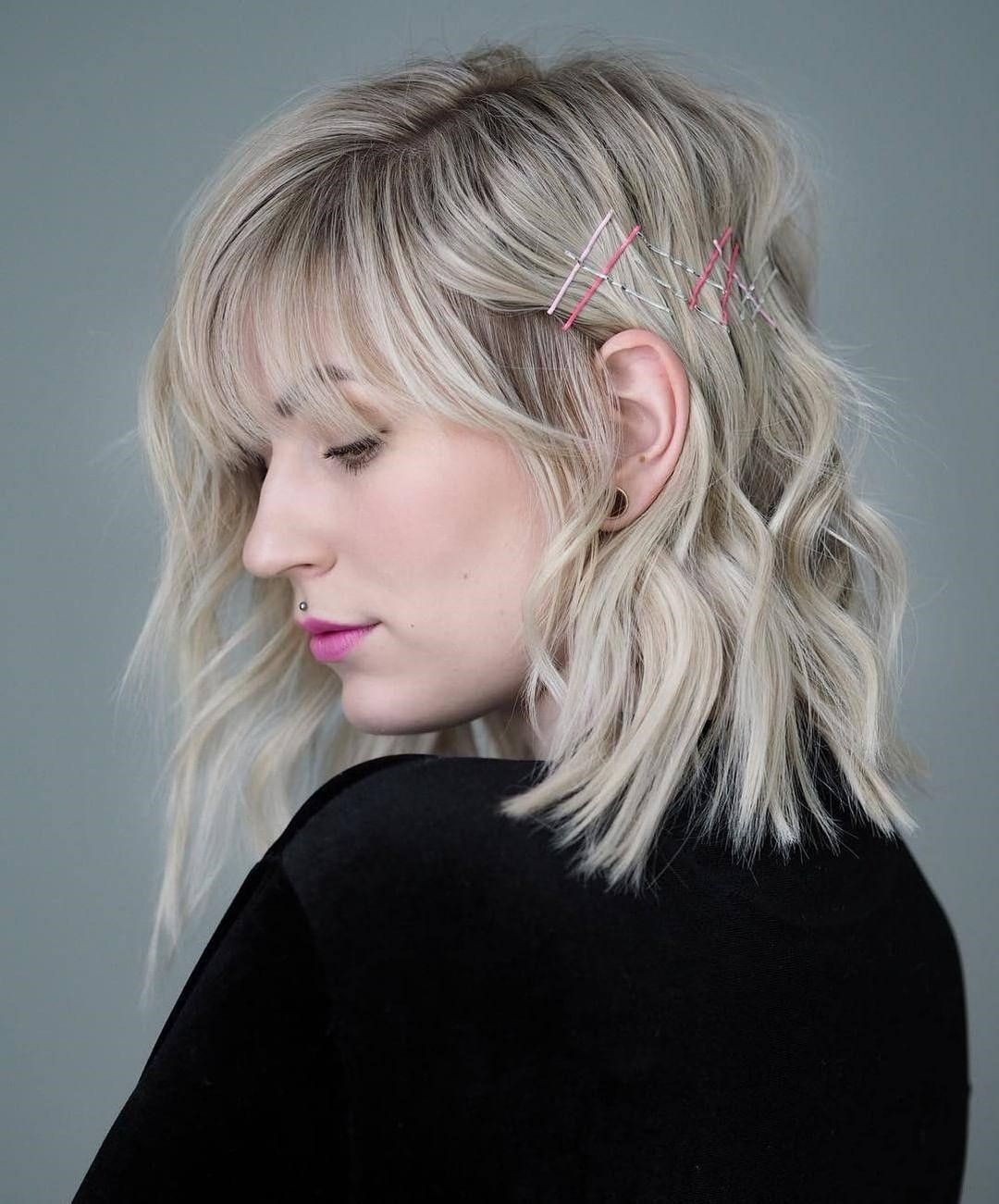 Medium Length Hairstyles With Side Bangs in 11  Hairstyles with