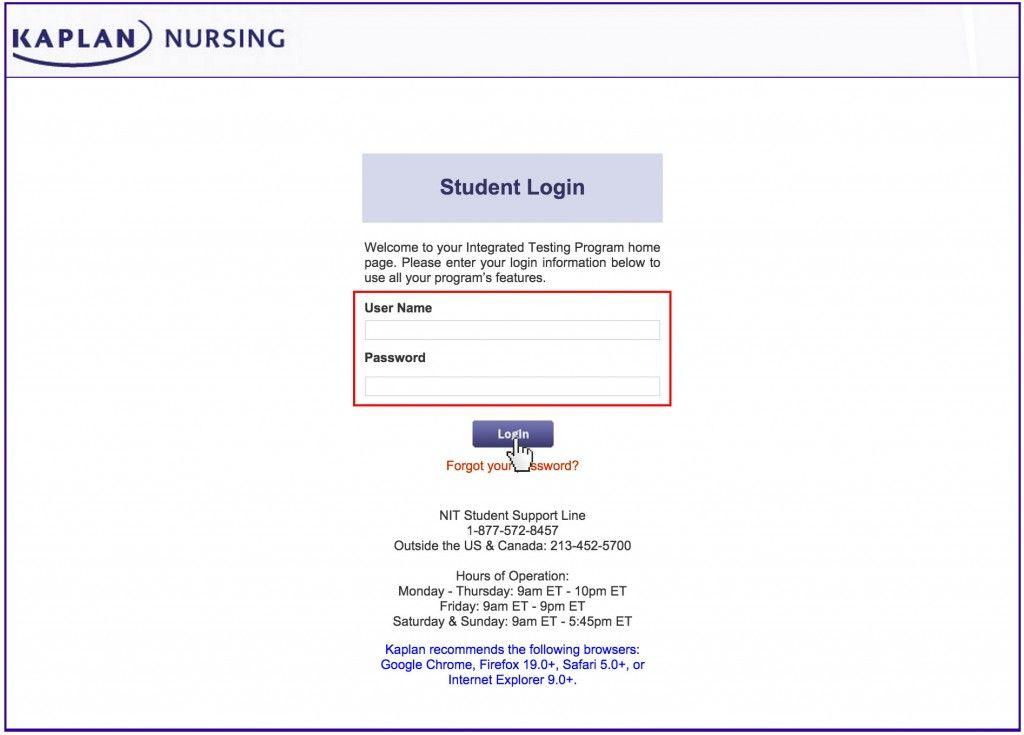 Kaplan Nursing Login Www Kaplan Edu Nursing Sign In