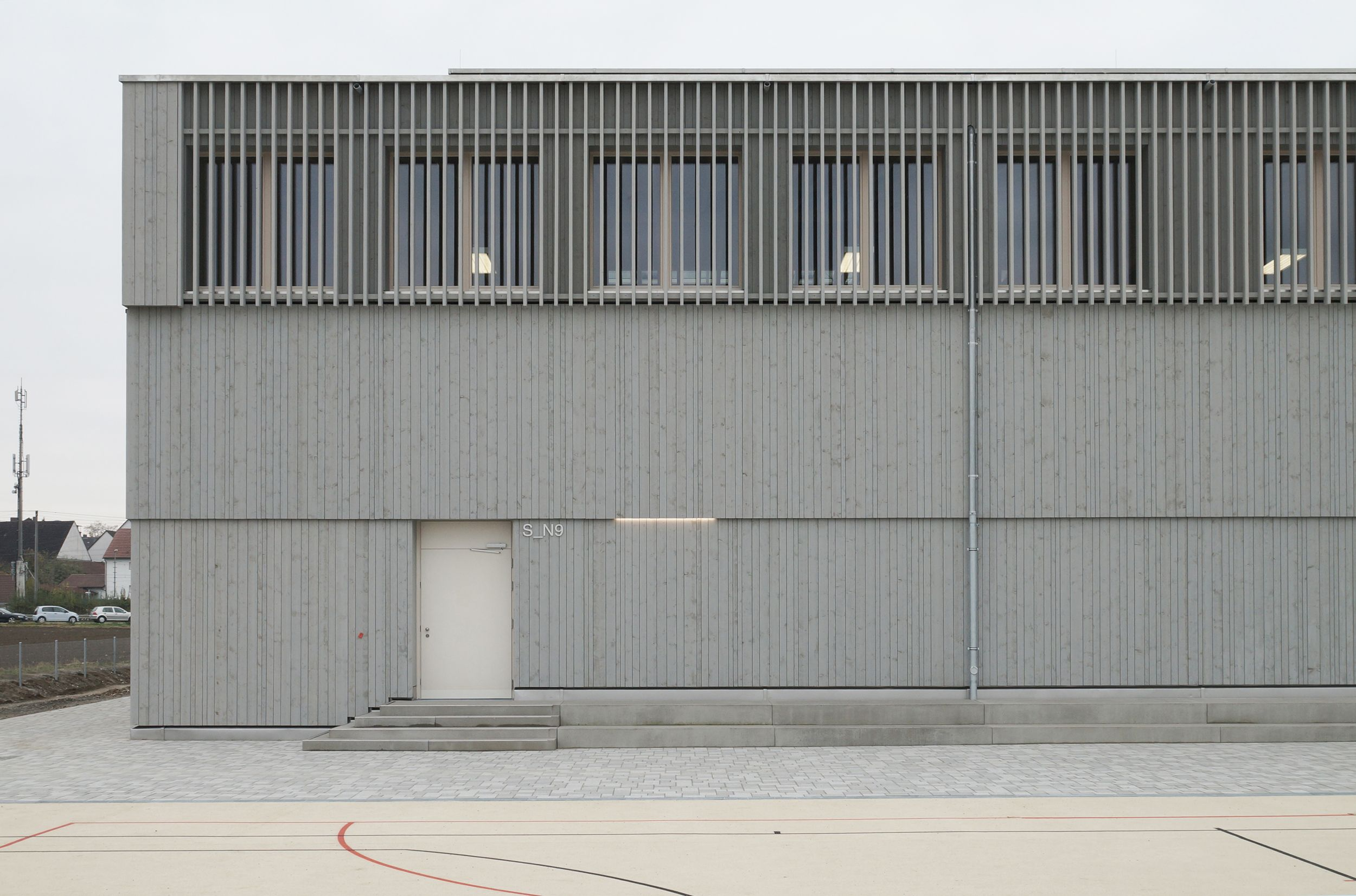 Pleated fabric doors pilotproject org - A Plus Energy Pilot Project The Schmuttertal Gymnasium In Diedorf Detail Online