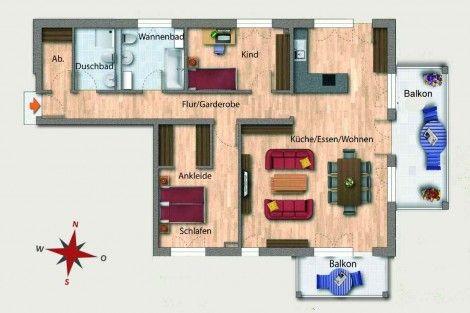 Wohnung 03 Erdgeschoss 115,74 m² Aufteilung 3 Zimmer - küche zu verkaufen