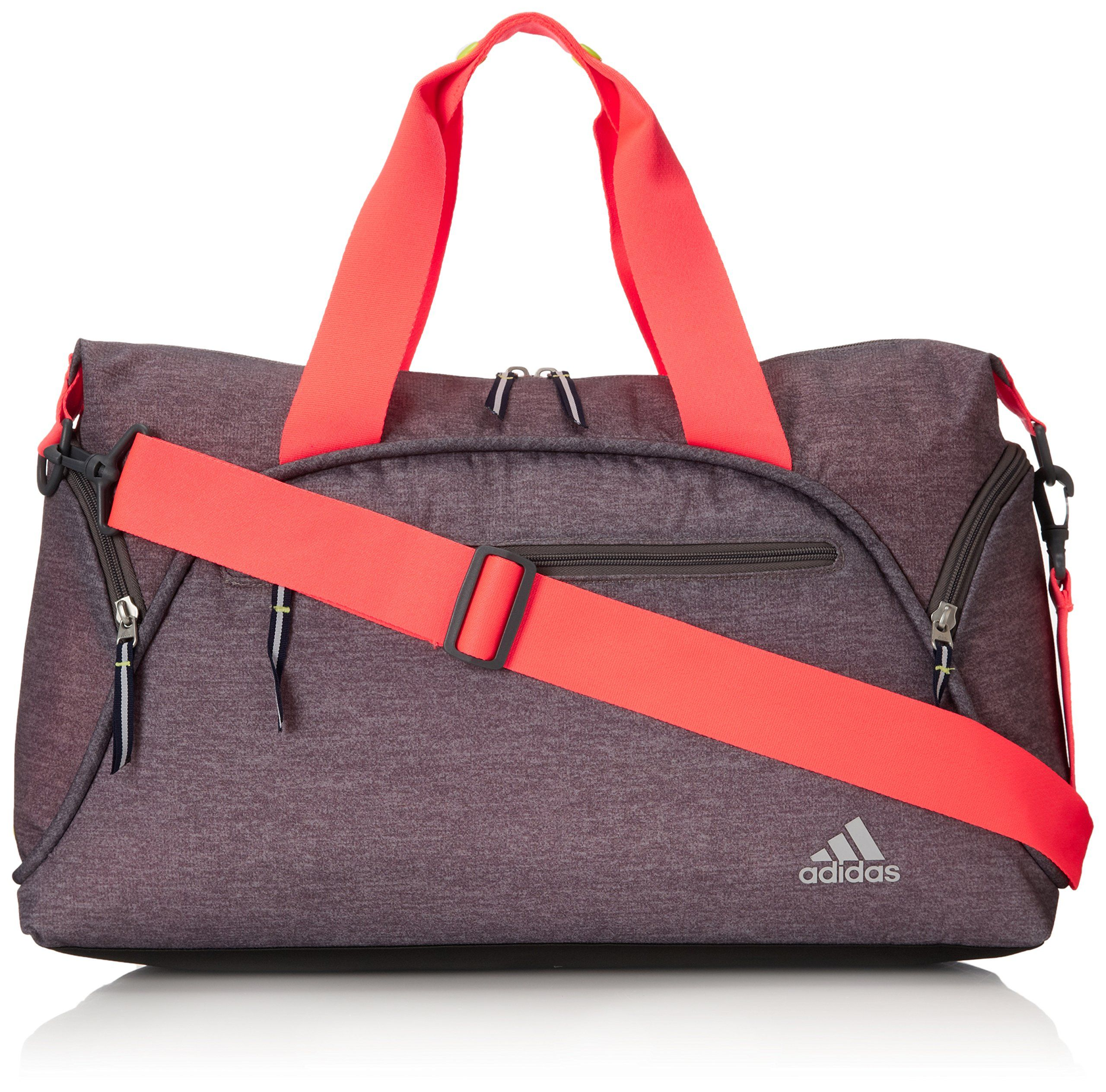 Adidas Women S Fearless Club Bag Heather Grey Static Flash Red